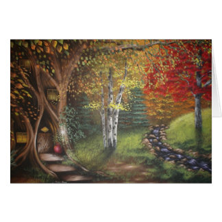 Fall Woods Greeting Card