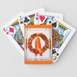 Fall Wreath Bicycle Playing Cards
