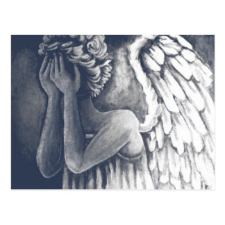 Fallen, Angel Art Postcard