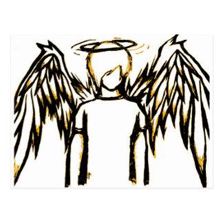Fallen Angel Yellow Postcard