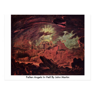 Fallen Angels In Hell By John Martin Postcard