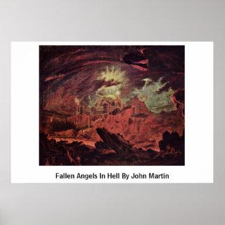 Fallen Angels In Hell By John Martin Poster