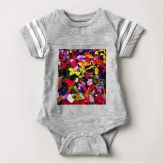 Fallen Autumn Leaves Abstract Baby Bodysuit