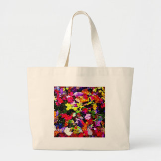 Fallen Autumn Leaves Abstract Large Tote Bag