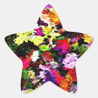 Fallen Autumn Leaves Abstract Star Sticker