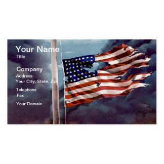 Fallen But Not Forgotten Smoke and Torn Flag Pack Of Standard Business Cards