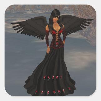 Fallen Dark Angel Stickers