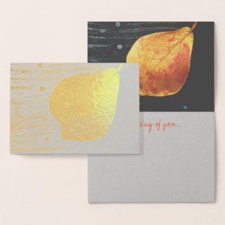 Fallen Leaf Foil Card