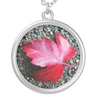 Fallen Leaf Red Necklace