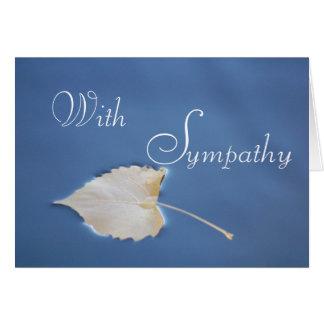 Fallen Leaf Sympathy Greeting Card