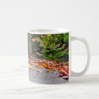 Fallen Leaves Basic White Mug