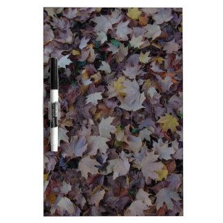 Fallen Maple Leaves Dry Erase Board