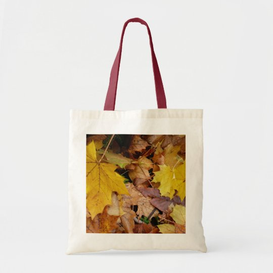 Fallen Maple Leaves Yellow Autumn Nature Tote Bag