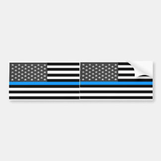 Fallen Police Flag Bumper Sticker