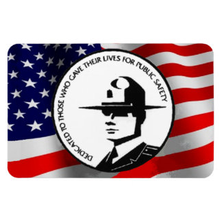 FALLEN POLICE OFFICERS RECTANGULAR PHOTO MAGNET