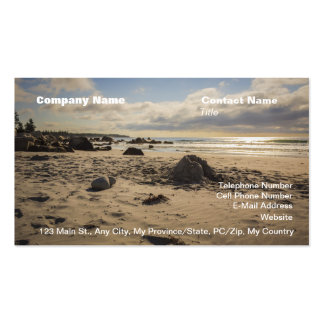 Fallen Sand Castle On The Beach Pack Of Standard Business Cards