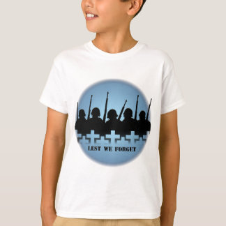 Fallen Soldiers Kids T-shirts Lest We Forget Tee