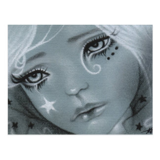 Fallen star doll face Postcard