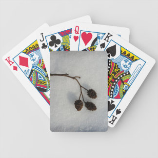 fallen twig bicycle playing cards