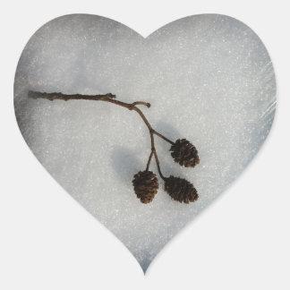 fallen twig heart sticker