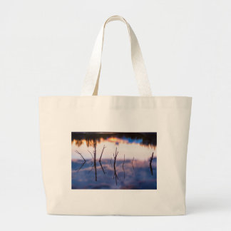 Fallen Twiggy Reflections Large Tote Bag