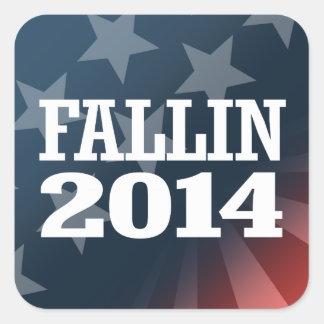 FALLIN 2014 SQUARE STICKER