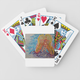 Falling Angel Afire Bicycle Playing Cards
