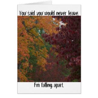Falling Apart Greeting Card