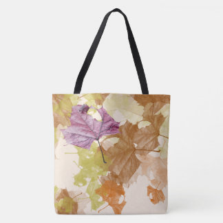 """""""falling autumn leaves"""" all-over print TOTE"""