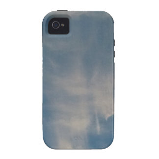 Falling blue sky drapes iPhone 4 cases
