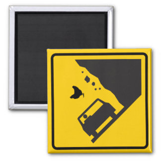 Falling Chicken Zone Highway Sign Magnet