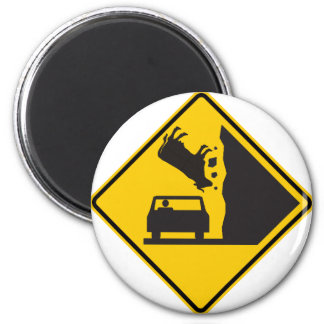 Falling Cow Zone Highway Sign Fridge Magnets