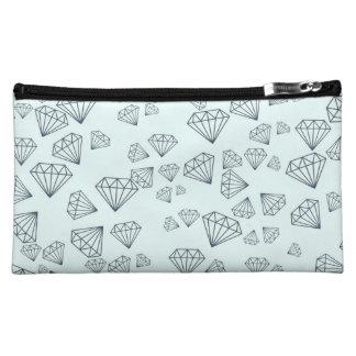 Falling Diamonds Cosmetic Bag | by PhantomPrinting