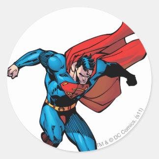 Falling Down - Superman Round Sticker