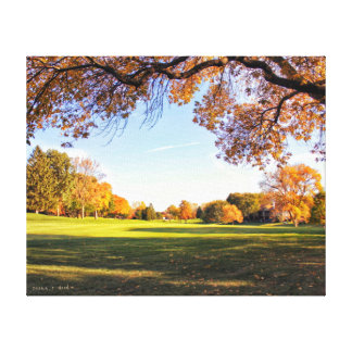 Falling for Iowa Canvas Print