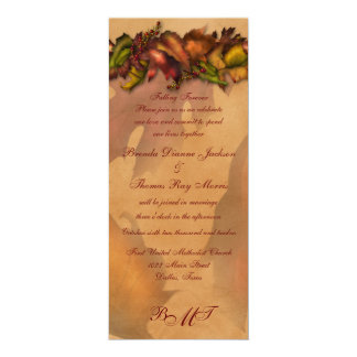 Falling Forever Wedding Collection Card