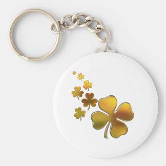 Falling Gold Shamrocks (Irish) Design Key Ring