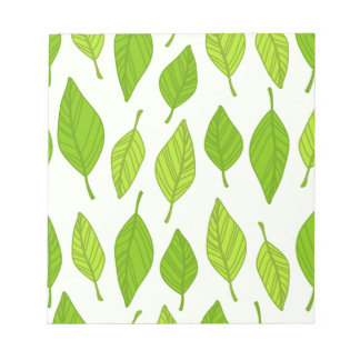 falling green leaves notepad