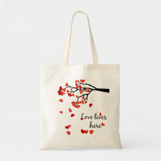 Falling Hearts Quoted bag