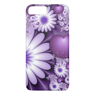 Falling in Love Abstract Flowers & Hearts Fractal iPhone 8 Plus/7 Plus Case