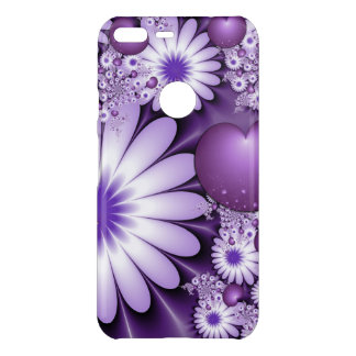 Falling in Love Abstract Flowers & Hearts Fractal Uncommon Google Pixel XL Case