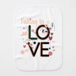 FALLING IN LOVE BURP CLOTH