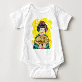 Falling in Love with the Geisha Girl Baby Bodysuit