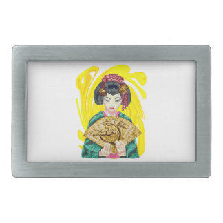 Falling in Love with the Geisha Girl Belt Buckles