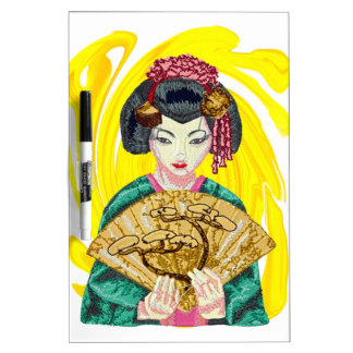 Falling in Love with the Geisha Girl Dry Erase Board