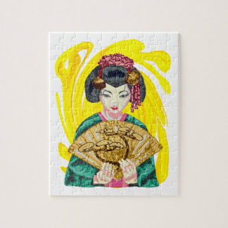 Falling in Love with the Geisha Girl Jigsaw Puzzle