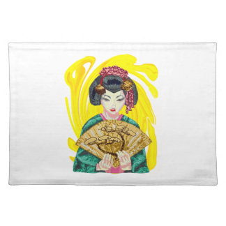 Falling in Love with the Geisha Girl Placemat