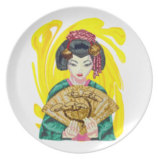 Falling in Love with the Geisha Girl Plate