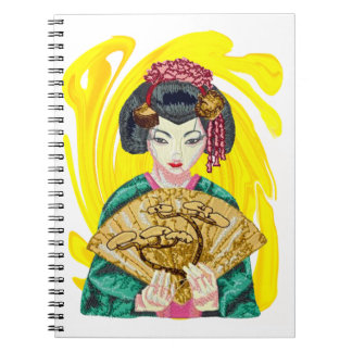 Falling in Love with the Geisha Girl Spiral Notebook