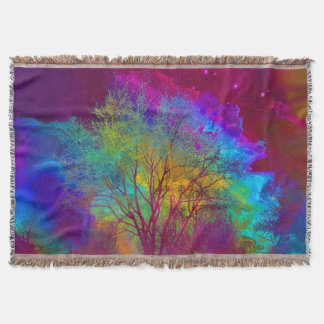Falling into Space Throw Blanket